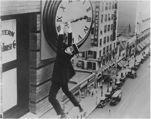 """""""El hombre mosca"""" (1923), Harold Lloyd"""