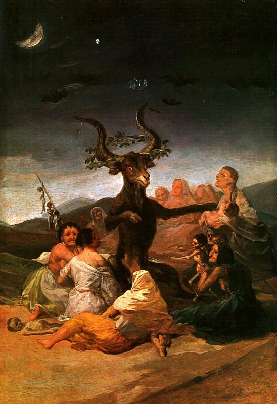 """""""El aquelarre"""", de Francisco de Goya"""