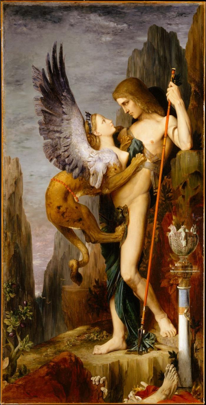 """""""Edipo y la Esfinge"""" de Gustave Moreau"""